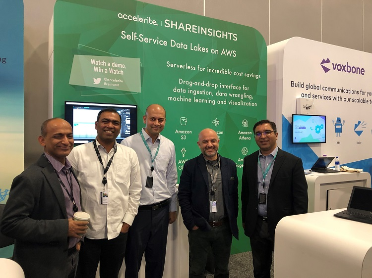 accelerite-shareinsights-team-at-aws-reinvent-2018